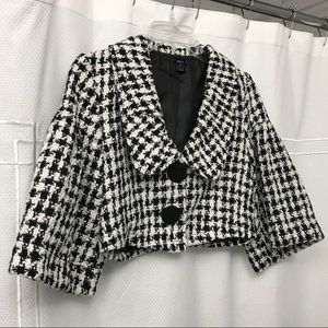 NWOT Classy & girly HOUNDSTOOTH PEACOAT